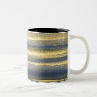 Goldene blaue Linien schwärzen 325 ml Zwei-Ton Zweifarbige Tasse