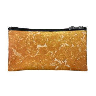 Goldene Blume Druckkleine kosmetische Tasche des