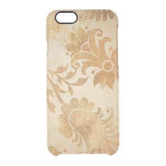 Goldene Blumen Vintager iPhone Clearly™ Ablenker Durchsichtige iPhone 6/6S Hülle