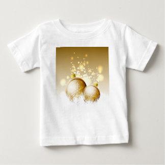 Goldene braune Dekoration des neuen Jahres mit Baby T-shirt