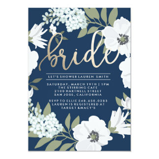 Goldene Braut - Brautparty-Einladung Karte