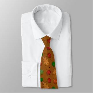 Goldene Brown-Herbstlaub-Typ-Krawatte Krawatte
