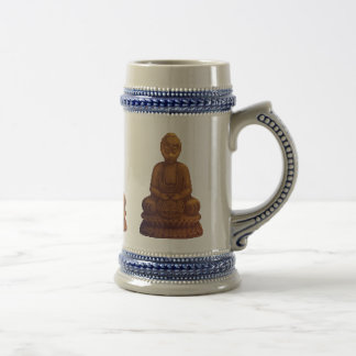 Goldene Buddha-Pixel-Kunst Bierglas