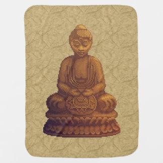 Goldene Buddha-Pixel-Kunst Kinderwagendecke
