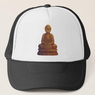 Goldene Buddha-Pixel-Kunst Truckerkappe