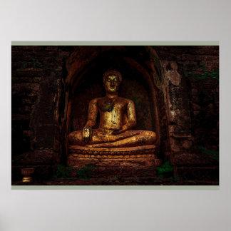 Goldene Buddha-Plakate Poster