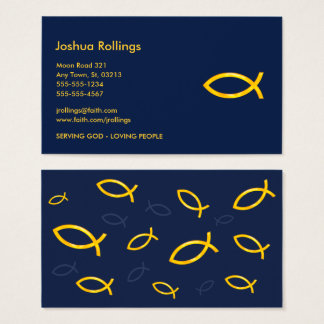 Goldene christliche Fische | Inspirational Visitenkarte