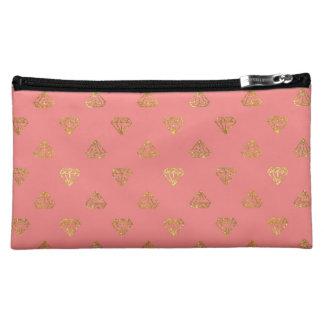 Goldene Diamant-Satin-Kosmetik-Tasche Kosmetiktasche