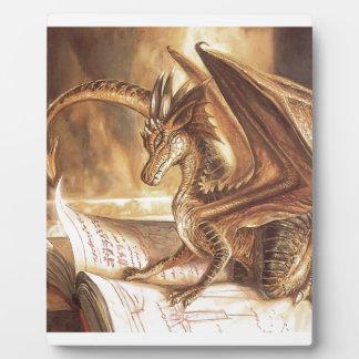 Goldene Drache-Buch-Lesung Fotoplatte