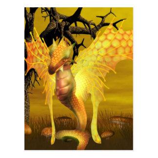 Goldene Drache-Postkarte Postkarte