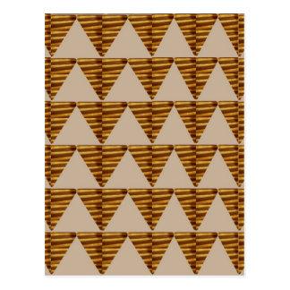 GOLDENE Dreieck STREIFEN: von der VINTAGEN Kunst Postkarte