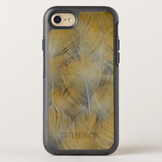 Goldene Drossel-Feder abstrakt OtterBox Symmetry iPhone 8/7 Hülle