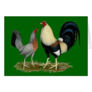 Goldene Duckwing Hühner Karte