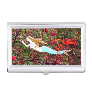 goldene e-haarig Meerjungfrau Visitenkarten Dose