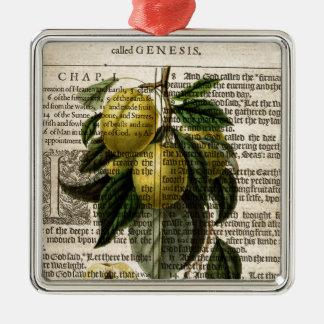 Goldene Esperen Pflaumen-Blume Silbernes Ornament