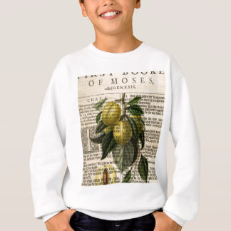 Goldene Esperen Pflaumen-Blume Sweatshirt