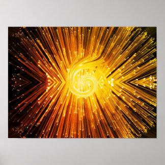 Goldene Faseroptikzusammenfassung Poster