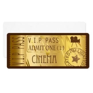Goldene Filmkarteneinladungen Karte