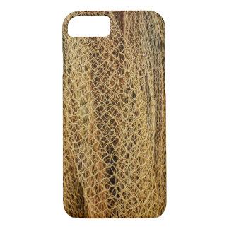 Goldene Fischernetze iPhone 8/7 Hülle