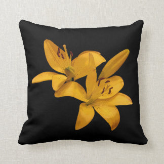 Goldene gelbe Lilien Kissen