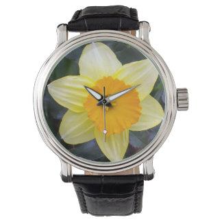 Goldene gelbe Narzisse, Armbanduhr