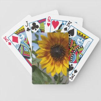 Goldene gelbe Sonnenblume, Bicycle Spielkarten