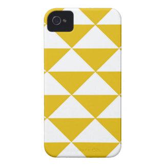 Goldene gelbe und weiße Dreiecke iPhone 4 Cover