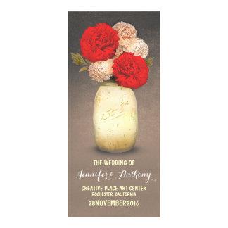 goldene gemalte rote Blumenprogramme des Werbekarte