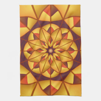 Goldene geometrische blühen geschirrtuch