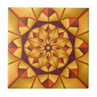 Goldene geometrische blühen keramikfliese