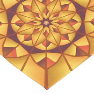 Goldene geometrische blühen kurzer tischläufer