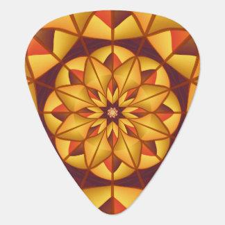 Goldene geometrische blühen plektrum