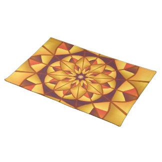 Goldene geometrische blühen tischset