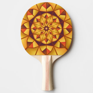 Goldene geometrische blühen tischtennis schläger