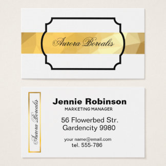 Goldene geometrische moderne elegante Visitenkarte