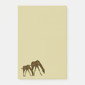Goldene Giraffe Post-it Klebezettel