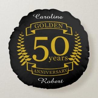 GOLDENE goldene 50 Jahre Hochzeitstag-50 alle Rundes Kissen