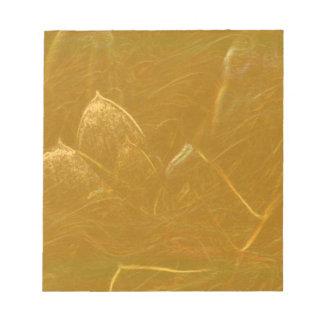 GOLDENE Goldfolien-Kunst LOTUSS künstlerische Notizblock
