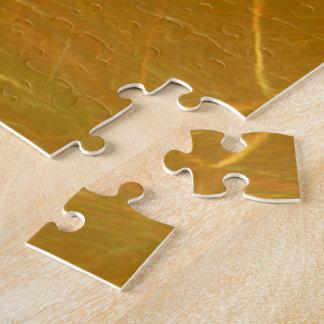 GOLDENE Goldfolien-Kunst LOTUSS künstlerische Puzzle