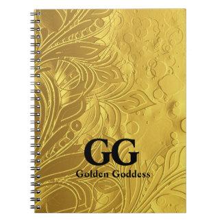 Goldene Göttin feiern glückliches 50. Spiral Notizblock