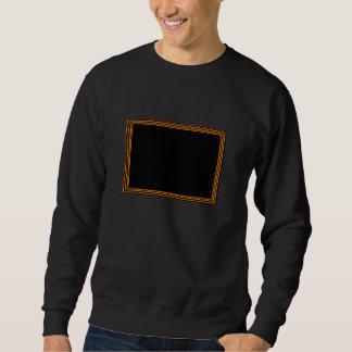Goldene Grenze auf eleganter schwarzer Basis Sweatshirt