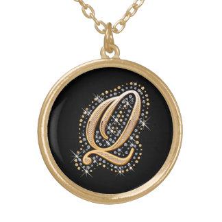 """Goldene Halskette der Initialen-""""Q"""""""
