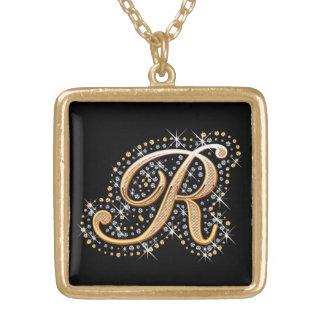 """Goldene Halskette der Initialen-""""R"""""""