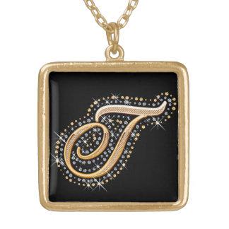 """Goldene Halskette der Initialen-""""T"""""""