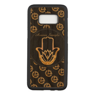 Goldene Hand Lotuss Hamsa Carved Samsung Galaxy S8 Hülle