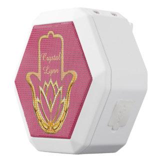 Goldene Hand Lotuss Hamsa Weiße Bluetooth Lautsprecher