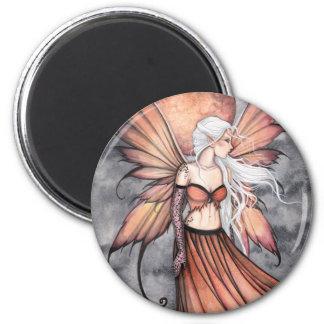 Goldene Herbst-Fee Runder Magnet 5,1 Cm