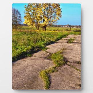 Goldene Herbststimmung im Oktober Fotoplatte