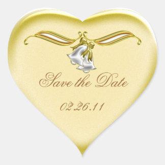 Goldene Hochzeit Herz-Aufkleber