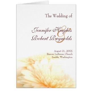 Goldene Hochzeits-Programm Grußkarte